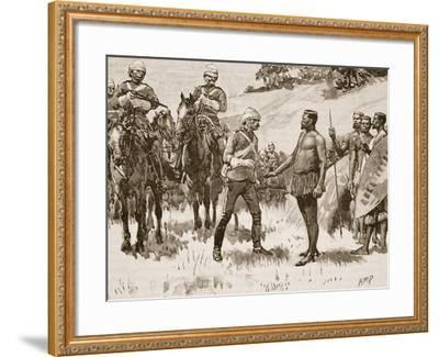Surrender of Cetewayo, 1880, Illustration from 'Cassell's Illustrated History of England'--Framed Giclee Print