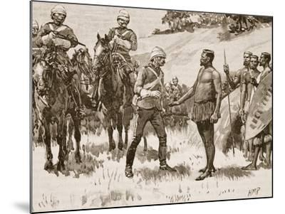 Surrender of Cetewayo, 1880, Illustration from 'Cassell's Illustrated History of England'--Mounted Giclee Print