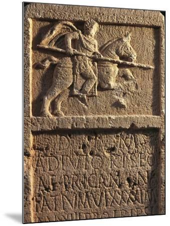 Algeria, Tipasa, Stele Depicting a Roman Knight with a Spear--Mounted Giclee Print
