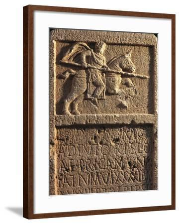Algeria, Tipasa, Stele Depicting a Roman Knight with a Spear--Framed Giclee Print