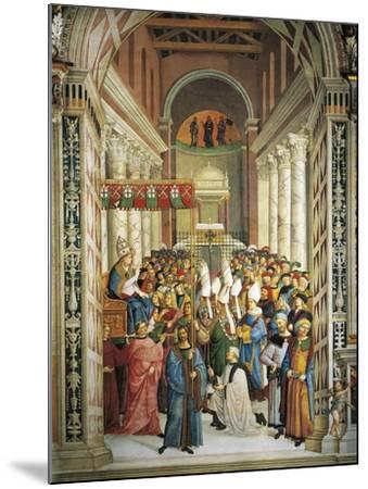 Italy, Siena, Cathedral, Piccolomini Library, Coronation of Pope Pius II--Mounted Giclee Print