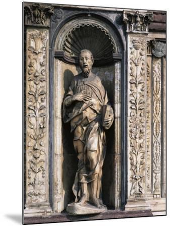 Statue of Apostle Attributed to Cristoforo and Antonio Mantegazza, Left Side of Façade--Mounted Giclee Print