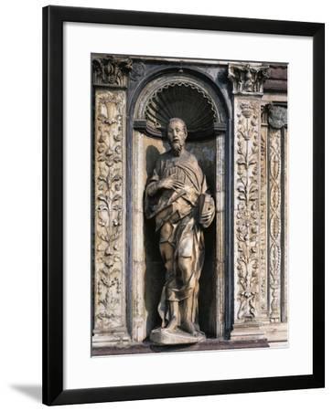 Statue of Apostle Attributed to Cristoforo and Antonio Mantegazza, Left Side of Façade--Framed Giclee Print