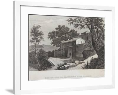 The House of Napoleon on the Island of Elba--Framed Giclee Print