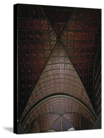 Glimpse of Ceiling with Intarsia--Stretched Canvas Print