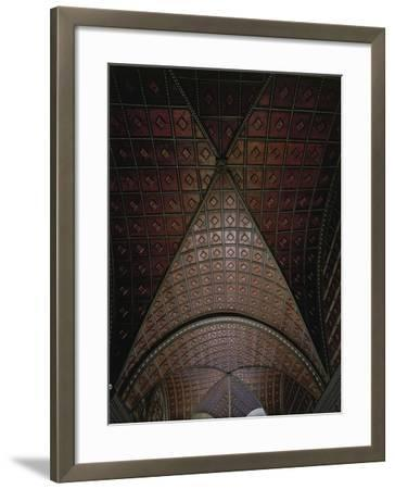 Glimpse of Ceiling with Intarsia--Framed Giclee Print