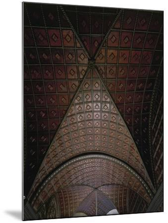 Glimpse of Ceiling with Intarsia--Mounted Giclee Print