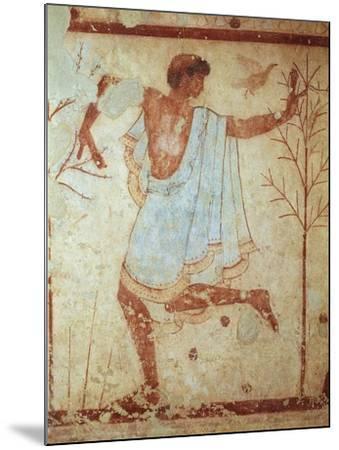 Italy, Latium Region, Tarquinia, Etruscan Necropolis, Tomb of Triclinium Depicting Dancer--Mounted Giclee Print