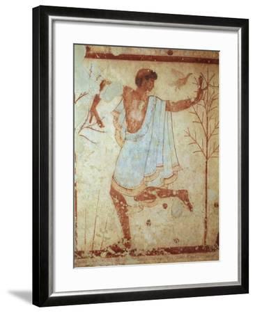 Italy, Latium Region, Tarquinia, Etruscan Necropolis, Tomb of Triclinium Depicting Dancer--Framed Giclee Print