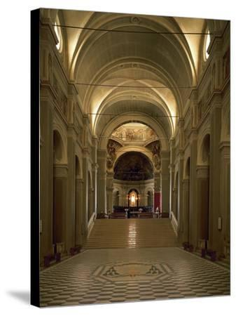 Italy, Emilia-Romagna, Cesena, Interior of Abbey of St Maria Del Monte--Stretched Canvas Print