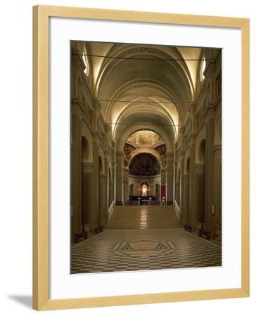 Italy, Emilia-Romagna, Cesena, Interior of Abbey of St Maria Del Monte--Framed Giclee Print