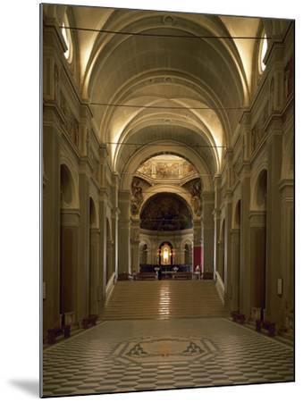Italy, Emilia-Romagna, Cesena, Interior of Abbey of St Maria Del Monte--Mounted Giclee Print