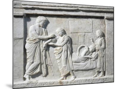 Attica, Oropos, Temple of Amphiaraos--Mounted Giclee Print