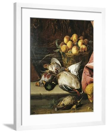 Still Life with Game, Fruit and Viola D'Amore--Framed Giclee Print