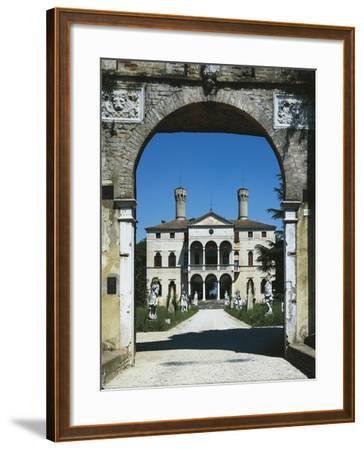 Glimpse of Villa Giustinian or Castello Ciani Bassetti, Roncade, Veneto, Italy, 16th Century--Framed Giclee Print