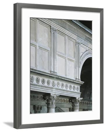 Architectural Detail from Pazzi Chapel, Architect Filippo Brunelleschi--Framed Giclee Print