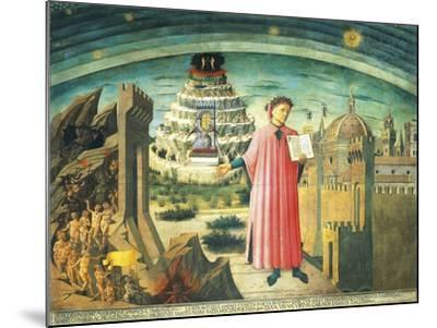 Portrait of Dante Alighieri, Florence and the Allegory of the Divine Comedy--Mounted Giclee Print