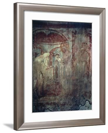 Presentation in Temple, Fresco by Master of Castelseprio--Framed Giclee Print