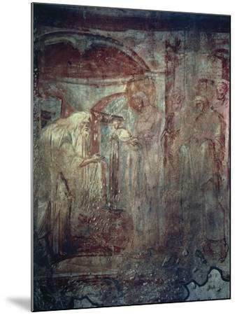 Presentation in Temple, Fresco by Master of Castelseprio--Mounted Giclee Print