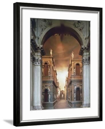 Proscenium from Olympic Theatre--Framed Photographic Print