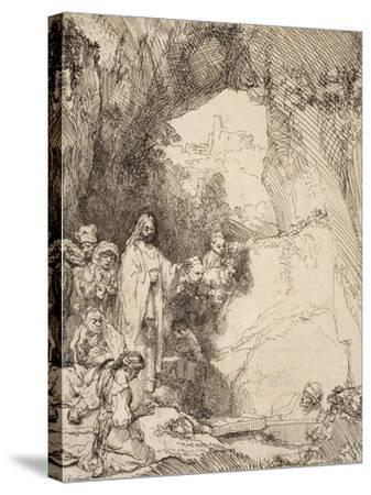 The Raising of Lazarus: the Small Plate, 1642--Stretched Canvas Print