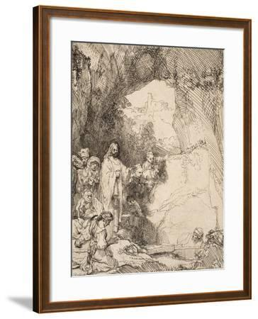 The Raising of Lazarus: the Small Plate, 1642--Framed Giclee Print