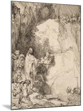 The Raising of Lazarus: the Small Plate, 1642--Mounted Giclee Print