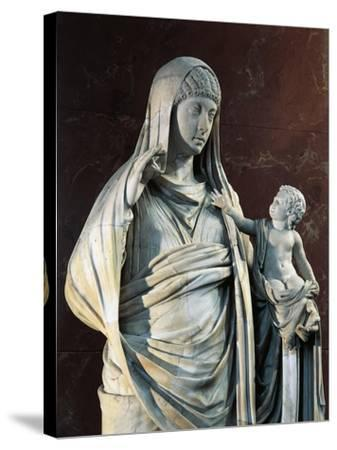 Marble Statue of Messalina Holding Britannicus, from Rome Surroundings, Detail--Stretched Canvas Print