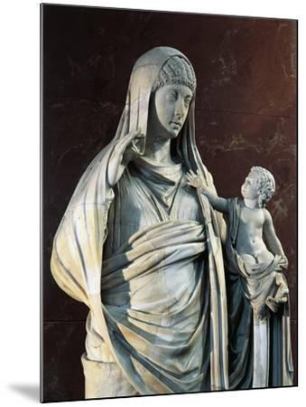 Marble Statue of Messalina Holding Britannicus, from Rome Surroundings, Detail--Mounted Giclee Print