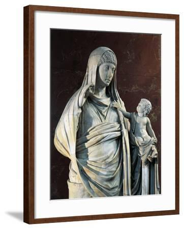 Marble Statue of Messalina Holding Britannicus, from Rome Surroundings, Detail--Framed Giclee Print