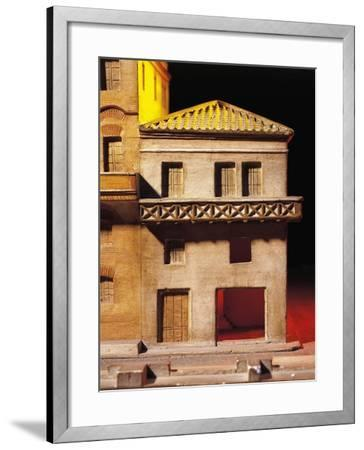 Roman Civilization, Model Reconstruction of Roman House with Balcony--Framed Giclee Print