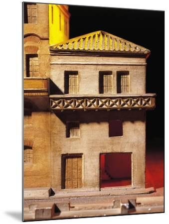 Roman Civilization, Model Reconstruction of Roman House with Balcony--Mounted Giclee Print