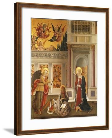 Annunciation to Mary and Saint Luke the Evangelist--Framed Giclee Print