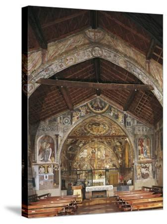 Overall View of Apse and Frescoes--Stretched Canvas Print