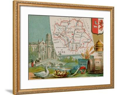 Department of Gers--Framed Giclee Print