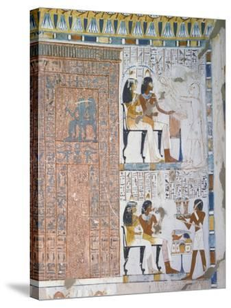 Egypt, Thebes, Luxor, Sheikh 'Abd Al-Qurna, Tomb of Huy and Kener--Stretched Canvas Print