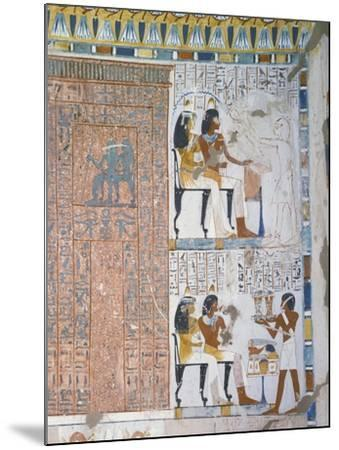 Egypt, Thebes, Luxor, Sheikh 'Abd Al-Qurna, Tomb of Huy and Kener--Mounted Giclee Print