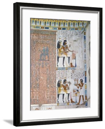 Egypt, Thebes, Luxor, Sheikh 'Abd Al-Qurna, Tomb of Huy and Kener--Framed Giclee Print