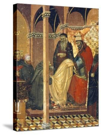 Honorius IV Gives New Clothes to Friars of Carmine--Stretched Canvas Print