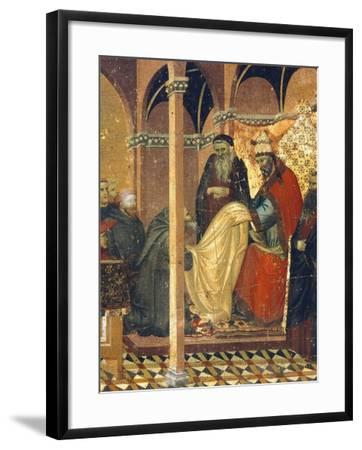 Honorius IV Gives New Clothes to Friars of Carmine--Framed Giclee Print