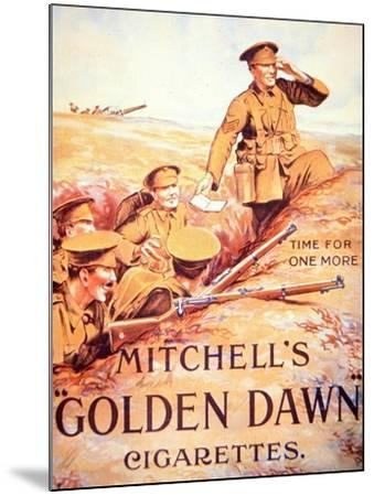 Mitchell's Golden Dawn Cigarettes', 1914-18--Mounted Giclee Print
