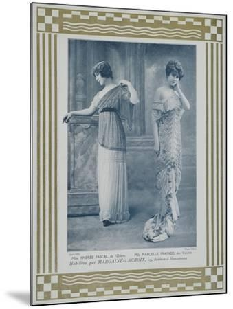 Portrait of Actresses Andree Pascal--Mounted Giclee Print