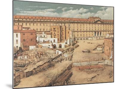 Italy, Naples, Albergo Dei Poveri--Mounted Giclee Print