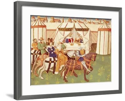 King Arthur Feast in Camelot: the Arrival of the Knights--Framed Giclee Print