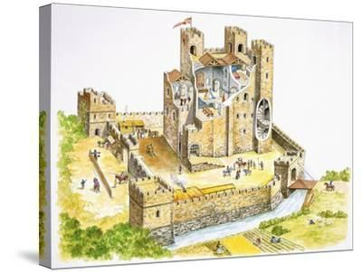 Reconstructed Feudal Castle--Stretched Canvas Print