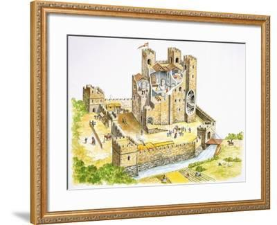 Reconstructed Feudal Castle--Framed Giclee Print