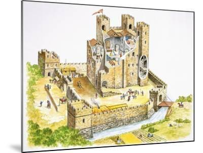 Reconstructed Feudal Castle--Mounted Giclee Print