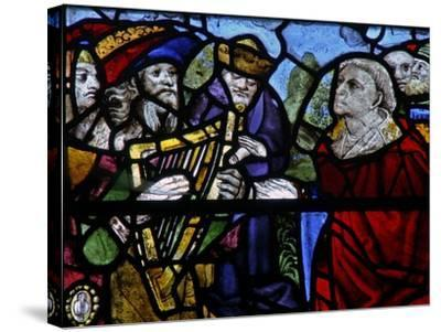 Window N-5 Depicting a Figure with a Harp - Detail--Stretched Canvas Print