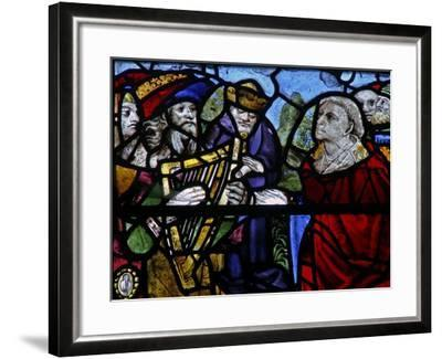 Window N-5 Depicting a Figure with a Harp - Detail--Framed Giclee Print