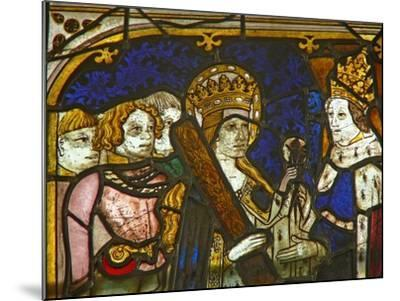 A Panel in the East Window Depicting St Helen with Emperor Constantine--Mounted Giclee Print
